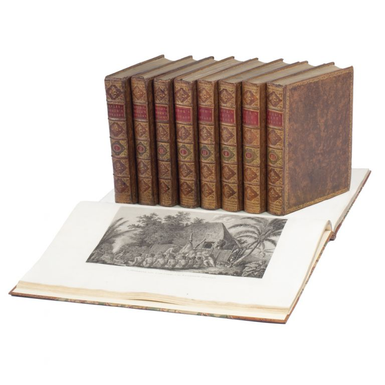 A complete set of the three official voyage accounts. Captain James COOK.