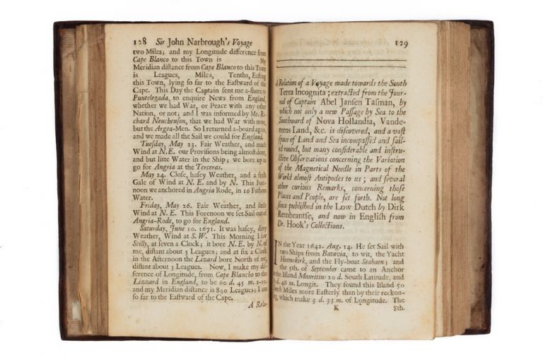 An Account of Several Late Voyages and Discoveries: I. Sir John Narborough's Voyage to the South Sea… II. Captain J. Tasman's Discoveries on the Coast of the South Terra Incognita. III. Captain J. Wood's Attempt to Discover a North-East Passage to China. IV. F. Marten's Observations made in Greenland… To which are added, a large introduction and supplement, containing short abstracts of other voyages into those parts. John NARBOROUGH.