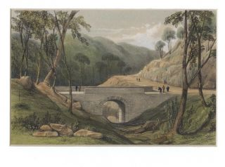 Road from Emu Plains, over the Blue Mountains. The first stone bridge built in N.S.W. Capt....