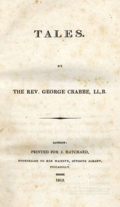 Tales. George CRABBE