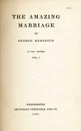 The Amazing Marriage. George MEREDITH