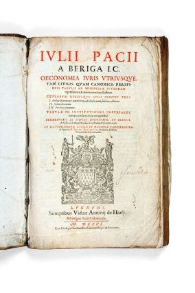 Economy of the Law. Julius PACIUS