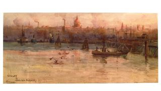 Sunset, Darling Harbor. John Henry YOUNG