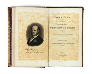 Speeches delivered by… Sir Hercules G.R. Robinson…