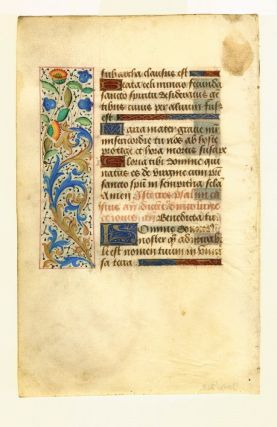 Illuminated leaf from a Book of Hours. ROUEN ILLUMINATOR