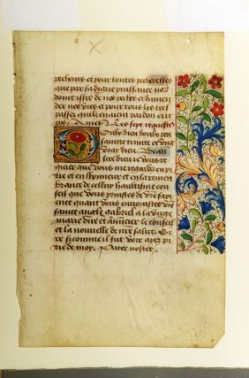 Illuminated leaf from a Book of Hours. ILLUMINATED LEAF, ROUEN ILLUMINATOR
