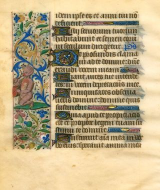 Illuminated leaf from a Book of Hours. FRENCH ILLUMINATOR