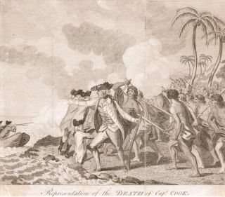 Representation of the Death of Capt. Cook. COOK: DEATH, John WEBBER, after