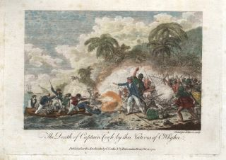 The Death of Captain Cook by the Natives of Owhyhee. William GRAINGER, engraver