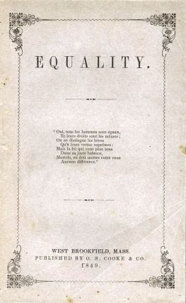 Equality. William B. GREENE