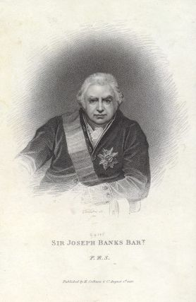 Sir Joseph Banks Bart. PORTRAIT, James THOMSON, engraver