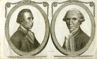 Portraits of Captain James King and Hawkesworth. B. THORNTON, engraver