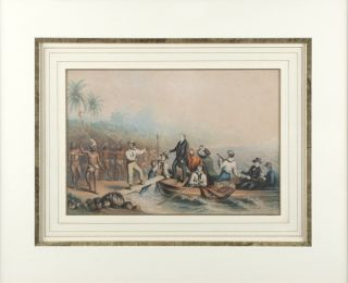 The reception of the Rev J Williams at Tanna, in the South Seas, the day before he was massacred....