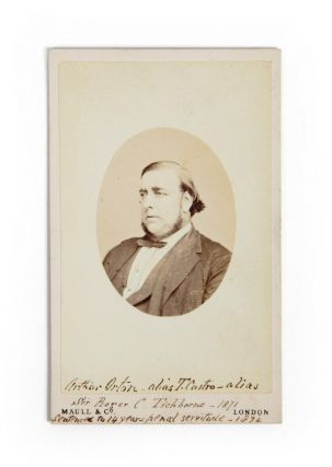Original Carte de visite photograph of Arthur Orton. TICHBORNE CLAIMANT, MAULL, Photographers CO