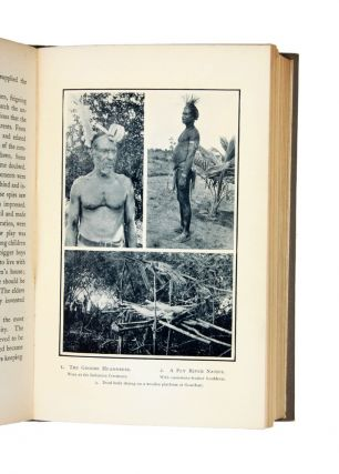 Among Papuan Headhunters. An account of the manners & customs of the old Fly River headhunters,...