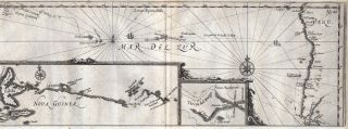 Map of New Guinea. DAMPIER, Joris van SPILBERGEN