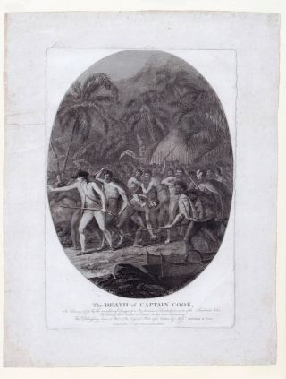The Death of Captain Cook, In February 1779 by the murdering Dagger of a Barbarian at Carakakooa,...