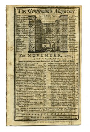Article on John Hutchinson's longitude clock in 'The Gentleman's Magazine' for November 1775....
