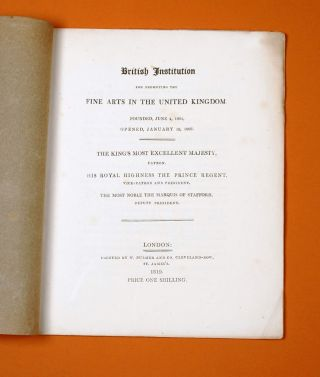 British Institution for promoting the Fine Arts in the United Kingdom… [including] Catalogue of...
