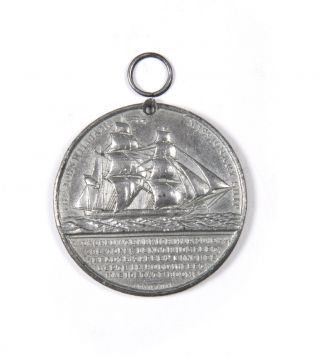 "Medallion commemorating the Missionary Ship ""John Williams"" LONDON MISSIONARY SOCIETY"