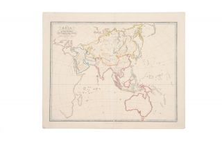 Asia for the Elucidation of the Abbe Gaultier's Geographical Games. ASPIN, Abbe GAULTIER