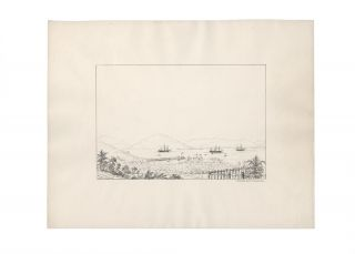 "Ten lithographs views from the series ""Fifteen Views of Australia in 1845 by G.K.E.F"" together..."
