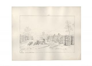 "Ten lithographs views from the series ""Fifteen Views of Australia in 1845 by G.K.E.F"" together with a lithograph of King George's Sound Western Australia"