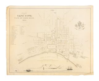 Plan of Cape Town, Cape of Good Hope. 1854. William DAY