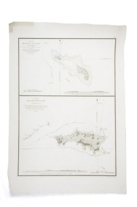 "Chart of two islands in the Fijian group captioned ""Plan de l'ile St. Augustin (de Maurelle)...."
