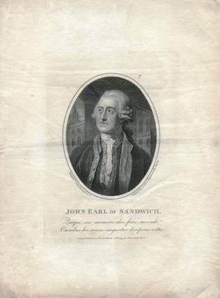 John Earl of Sandwich. SANDWICH, Joseph COLLYER, after Thomas GAINSBOROUGH