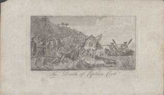 The Death of Captain Cook [caption title]. ANONYMOUS