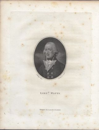 Lieut. Watts. S. SHELLEY, W. SHERWIN