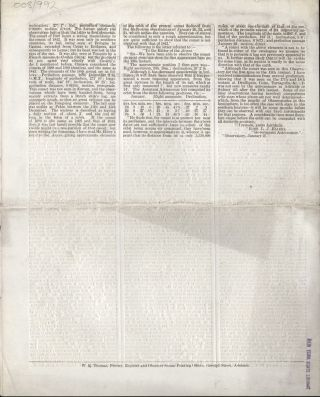 """Adelaide Philosophical Society. Paper read on Tuesday evening, January 31, 1865 by C. Todd, Esq., F.R.A.S. Subject - """"The Comet""""."""