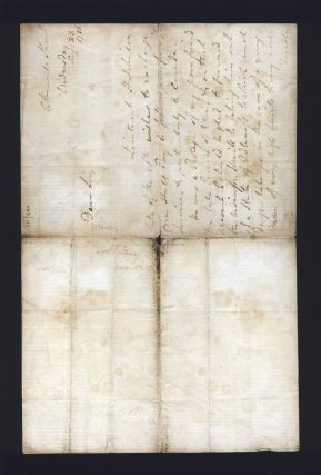 "Autograph letter signed ""Sydney"" regarding the transfer of a young lieutenant. Viscount SYDNEY,..."
