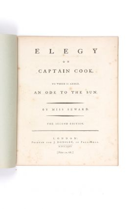 Elegy on Captain Cook. To which is added, An Ode to the Sun. Anna SEWARD