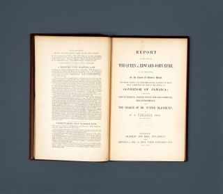 Report of the Case of the Queen v. Edward John Eyre on his Prosecution.
