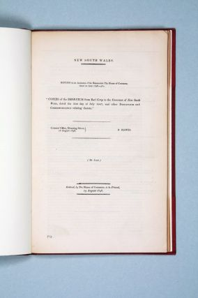 Three reports regarding a proposed constitution for New South Wales, the formation of a discrete...