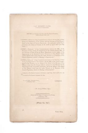 Copies or Extracts of any Correspondence between the Secretary of State for the Colonial...
