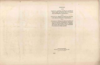 Copies of the Commission Appointing T. F. Elliot and Robert Torrens Esquires, and the Honourable...