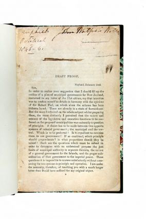 Draft proof of a printed letter to William Gladstone concerning colonial affairs.