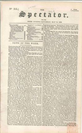 The Spectator. For the week ending Saturday, May 12, 1838. TRANSPORTATION