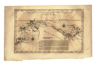 A Map of the Discoveries Made by Captn. Willm. Dampier in the Roebuck in 1699. DAMPIER, Emanuel...