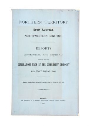 Reports (Geological and general) resulting from the explorations made by the government geologist...