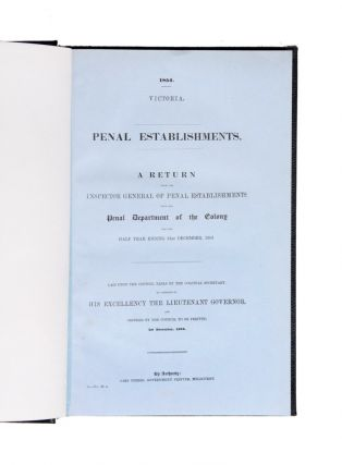 Collection of six parliamentary reports on penal establishments, prison discipline and the...