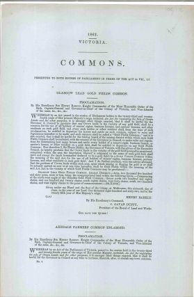 Commons…the Act 24 Vic, 117. Glasgow Lead Gold Fields Common [Ararat District]. GOOD HOPE...