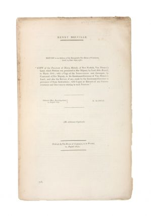 Henry Melville. Return to an address of the Honourable the House of Commons dated 14 June 1850;...