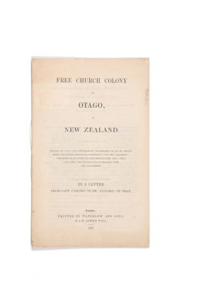 Free Church Colony at Otago, in New Zealand. Powers of local self-government established by act...