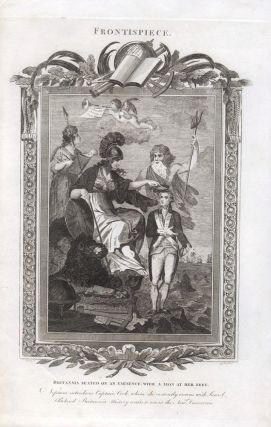 Britannia crowns Captain Cook, flanked by the Gods of Empire. Cornelius PAAS