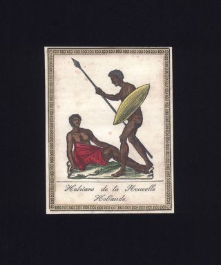 """Habitans de la Nouvelle Hollande."" ABORIGINES, ANONYMOUS."