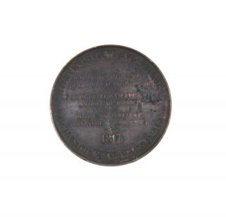 "Bronze Medal: ""… La Corvette l'Uranie Mr. Ls. de Freycinet Commandt…""."